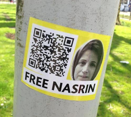 sticker-free-Nasrin-Sotoudeh-Amsterdam